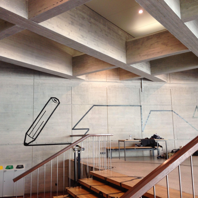 städtebau institut uni stuttgart – tape art von dumbo and gerald, Innenarchitektur ideen