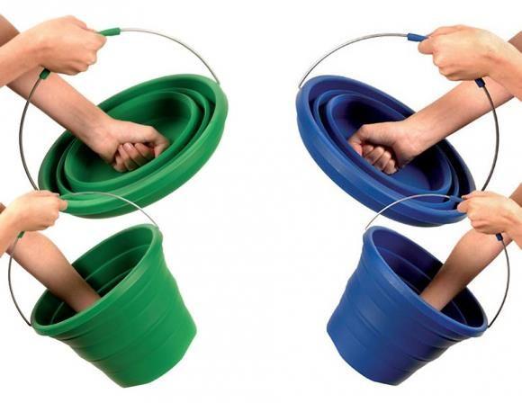 + Criatividade :   Interessante o conceito desse balde de silicone.
