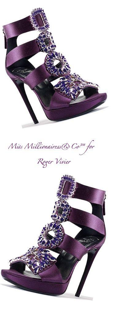 Roger Vivier Satin Embellished Sandals | House of Beccaria~
