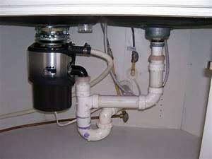 Garbage disposal pipe hook up