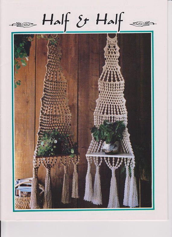 macrame plant hanger pattern vintage 1970 s macrame pattern rh pinterest com
