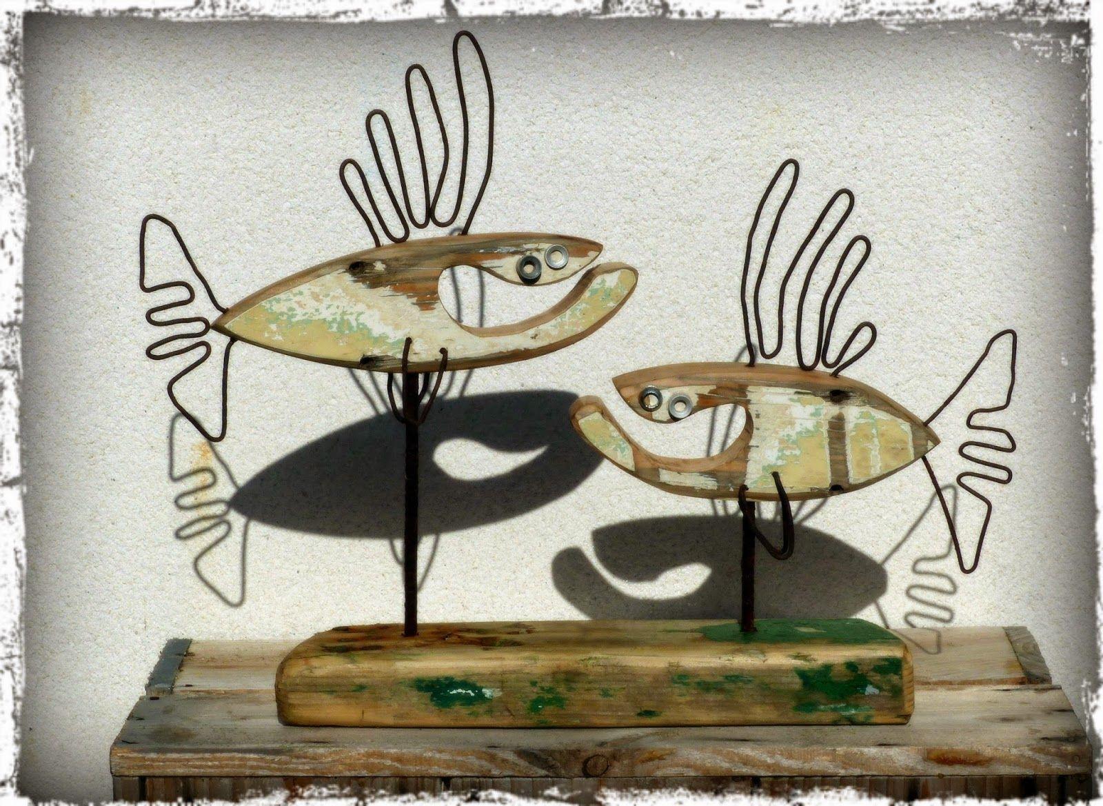 poisson bois flotté, art bois flotté   Art   Pinterest   Driftwood ...