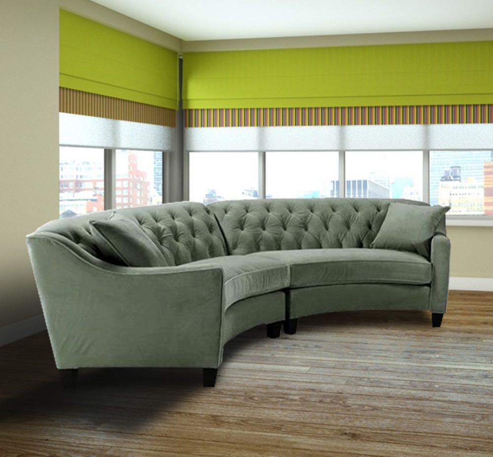 Best Light Blue Button Curved Tufted Sectional Sofa Set Modern 400 x 300