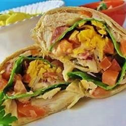 Chicken Salad Wraps -- lunch idea for camp