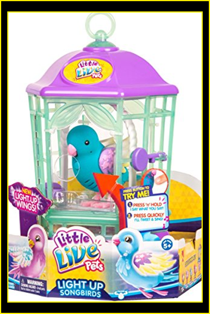 Little Live Pets Bird With Cage Twinkle Tweets Childrens Toy Little Live Pets Childrens Toy Pet Bird