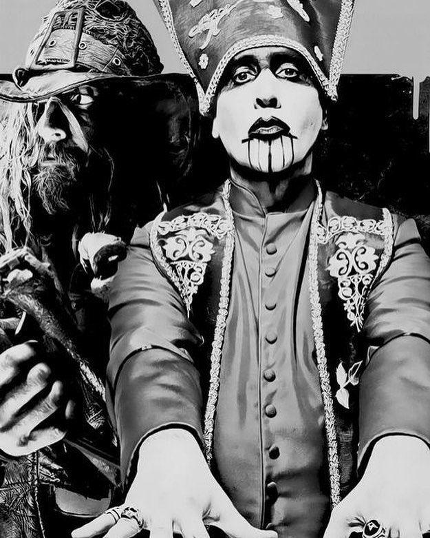Rob Zombie And Marilyn Manson Robzombie Marilynmanson Marilynmansonfans Marilynmansonfan Marilynmansonisgod Marilynman Marilyn Manson Rob Zombie Manson