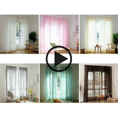 (Sponsored Link) Linen Window Screening Room Decor Balcony Curtain Indoor Window Glass Curtains