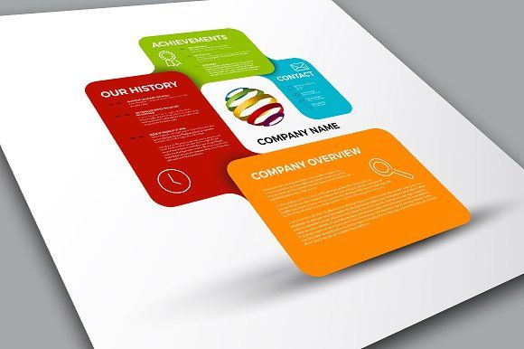 Vector Company Profile Template by Orson on Creative Market My - free business profile template