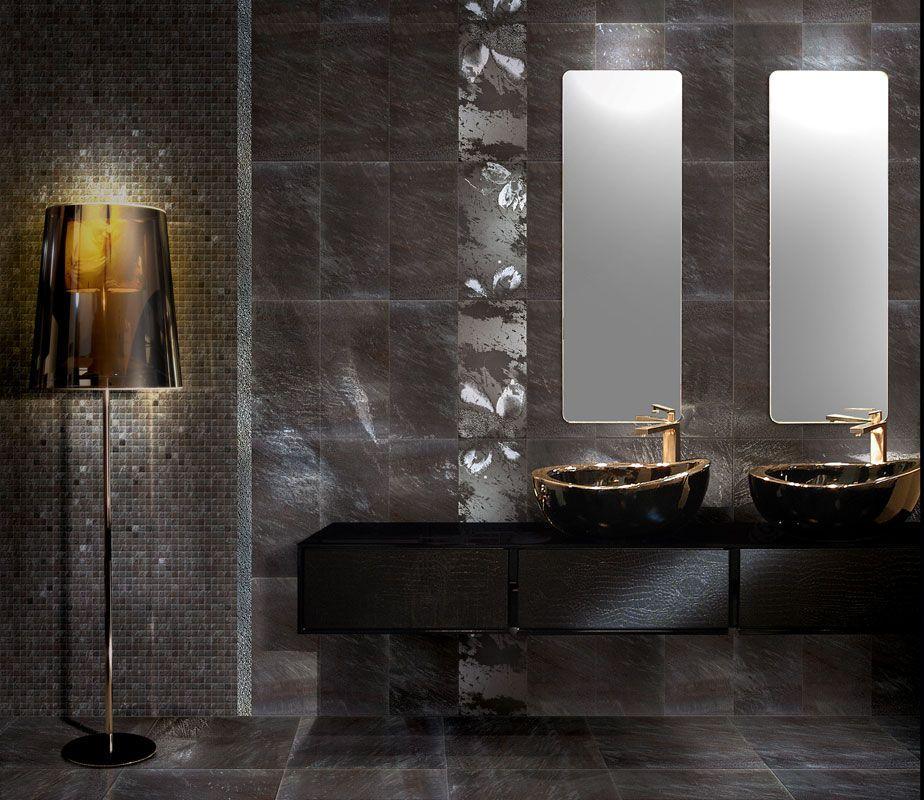 Dark Tile Master Bathroom: Bathroom Ceramic Floor Tile