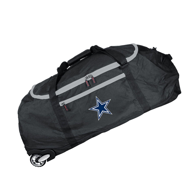 Dallas Cowboys Black 36 Ultimate Collapsible Wheeled Duffel Bag