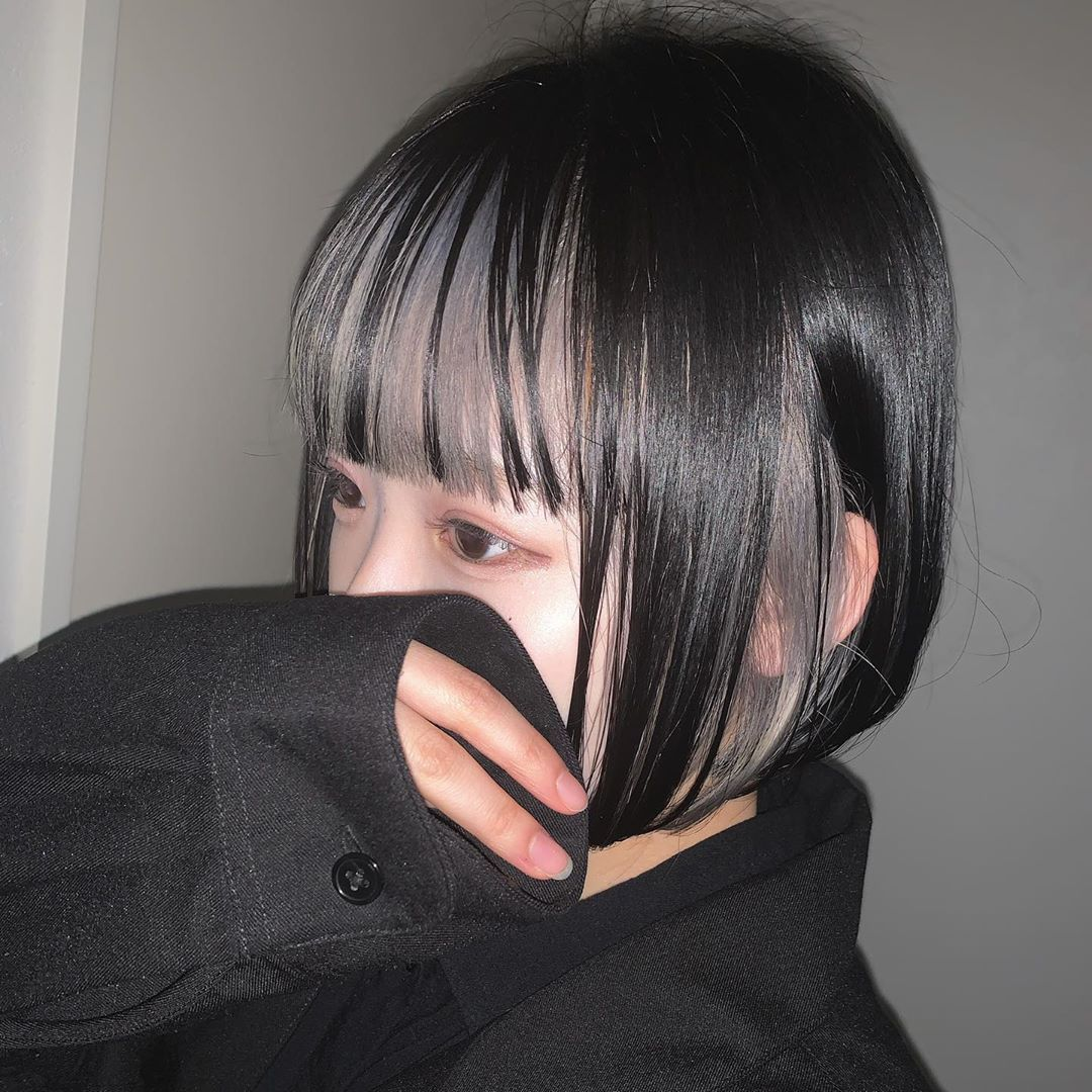 カラー 前髪 インナー