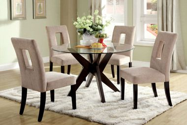 Furniture Of America Cm3229t Silver Gray Dining Set Glass Dining Room Table Round Dining Room Glass Round Dining Table