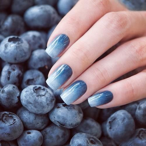 Image via We Heart It #blue #blueberries #cute #nails #naildesign