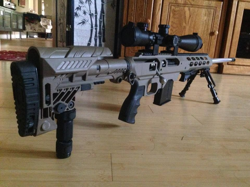 Savage Arms Model 12 FVSS  308 in a Tac21 chassis | Random things I