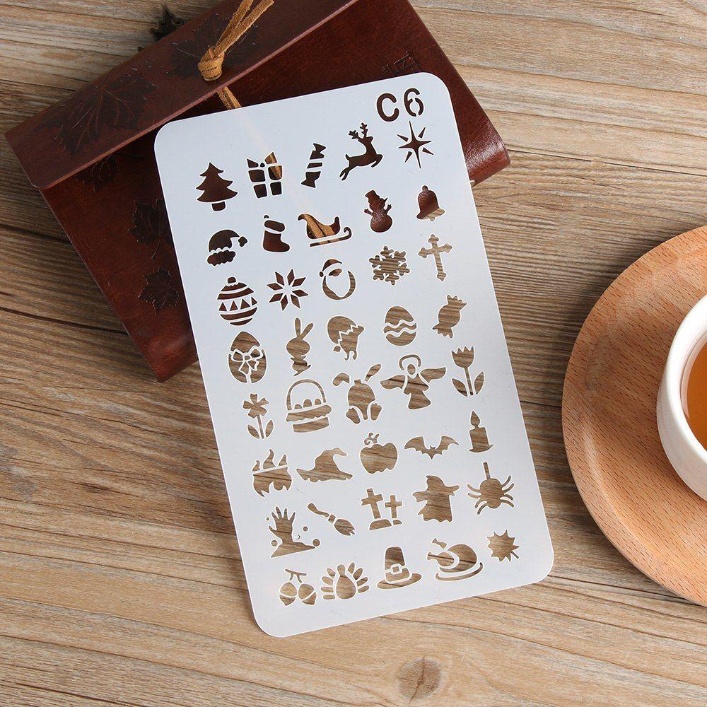 Karton Bild Handwerk Kugel Journal Stencil Set Scrapbooking