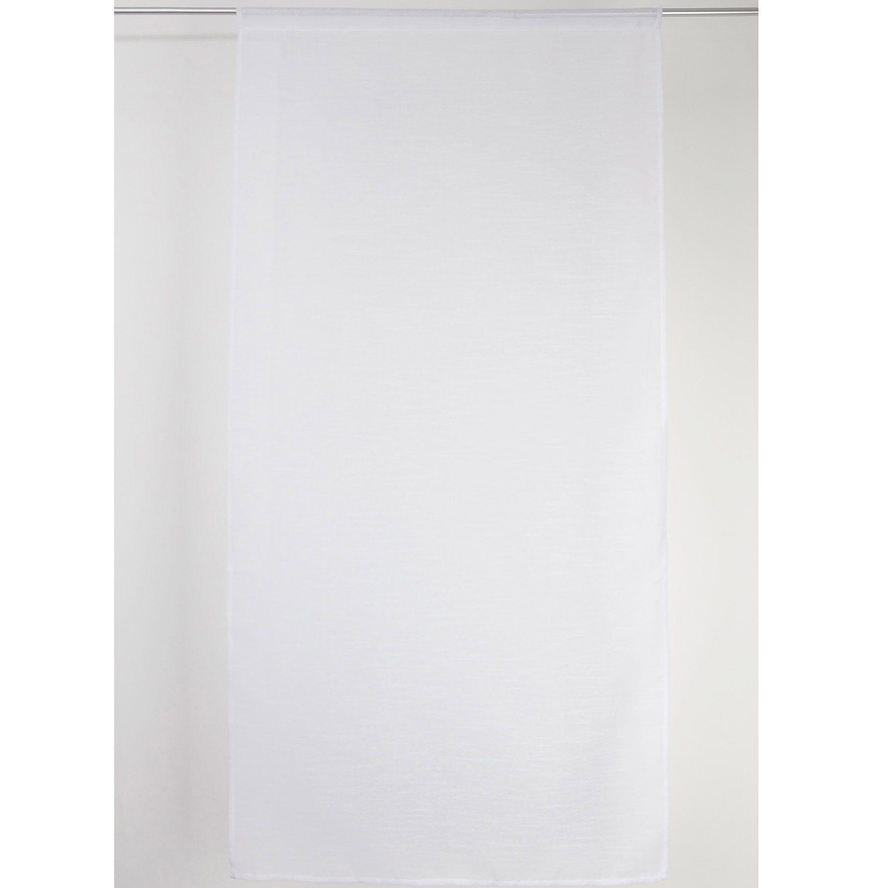 Vitrage Transparent Petite Hauteur Carla Blanc L 80 X H 160 Cm