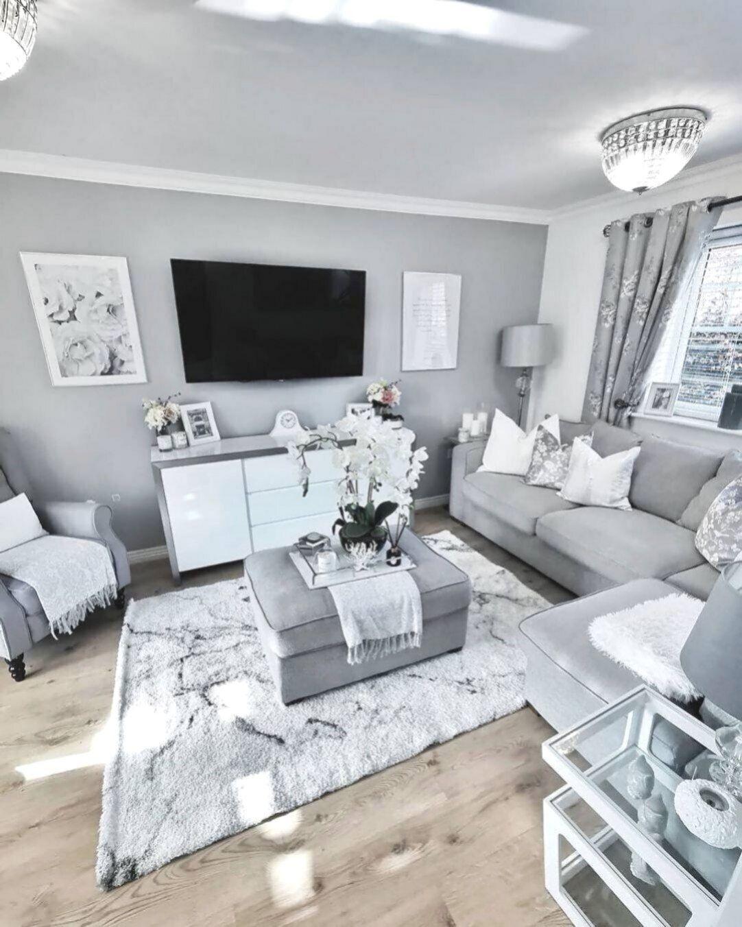 Deko-ideen für ihr wohnzimmer grau  Oturma odası fikirleri
