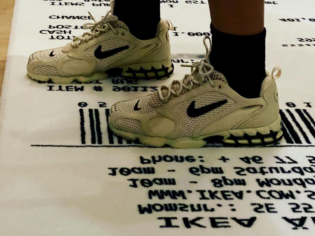 Nike Air Zoom Spiridon Cage 2 Stussy Fossil Fashion Shoes 2020 Christmas Outifts Trends In 2020 Nike Casual Shoes Nike Fashion Shoes Nike Fashion