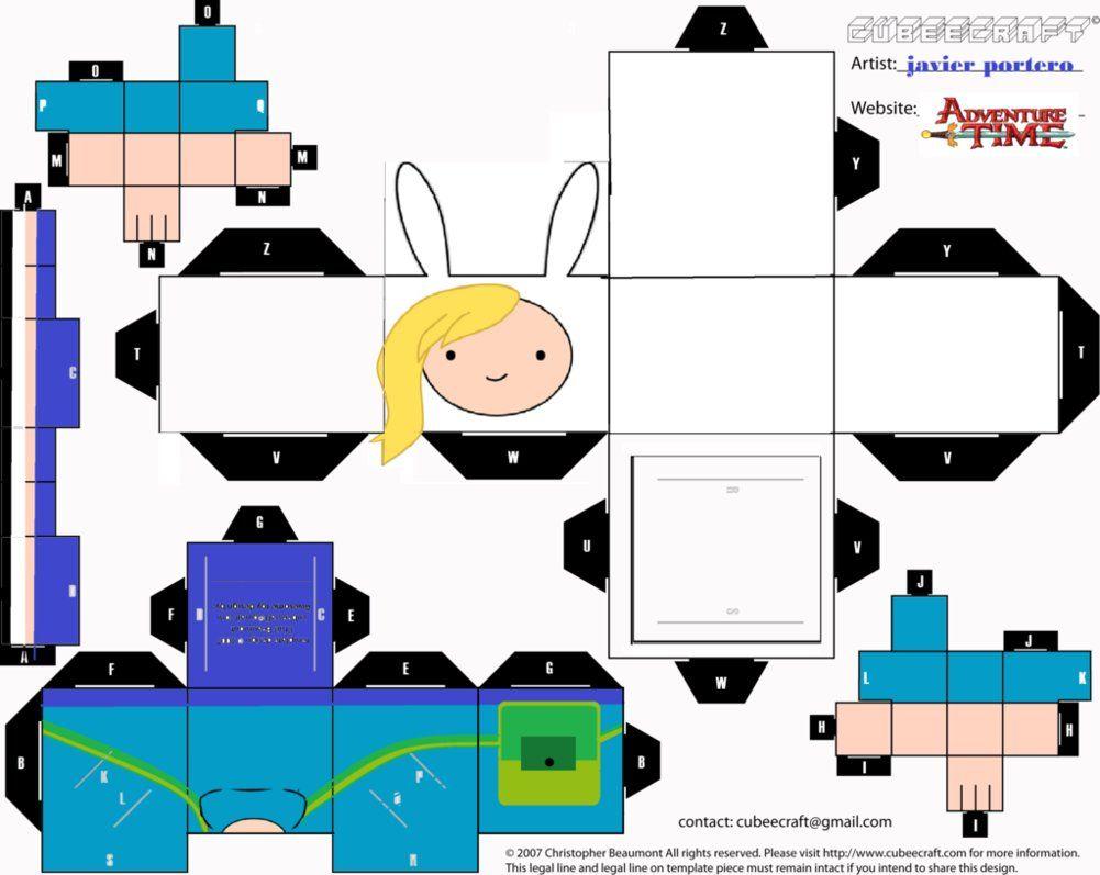 Adventure Time Fionna Cutout Craft