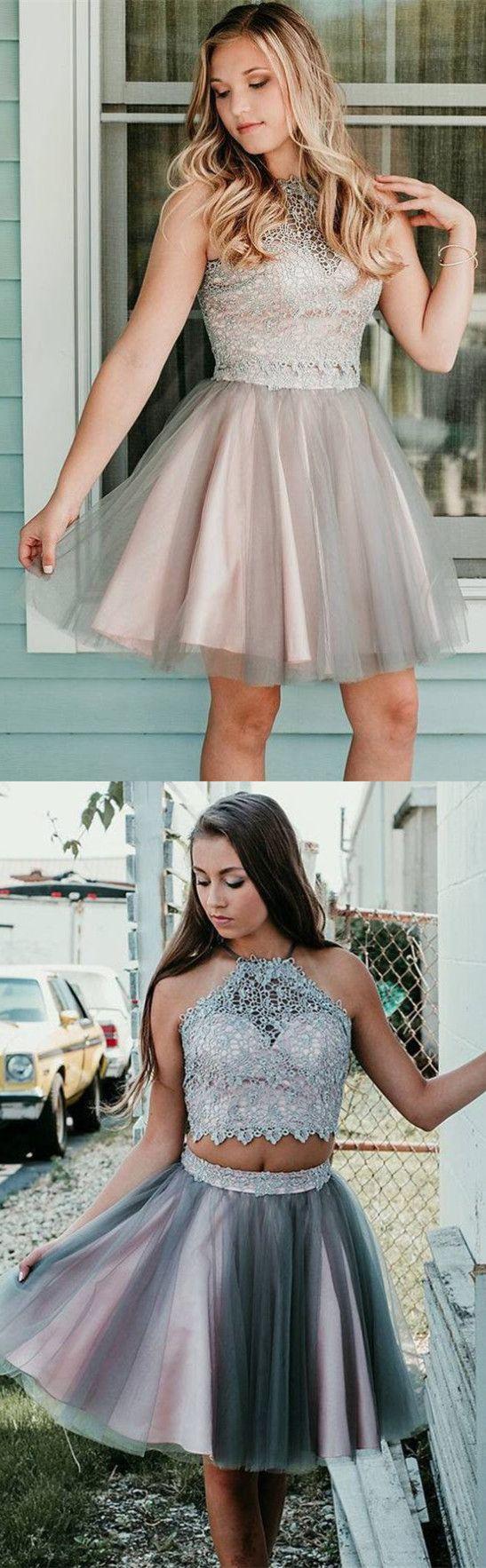Princess two piece short homecoming dresses short homecoming