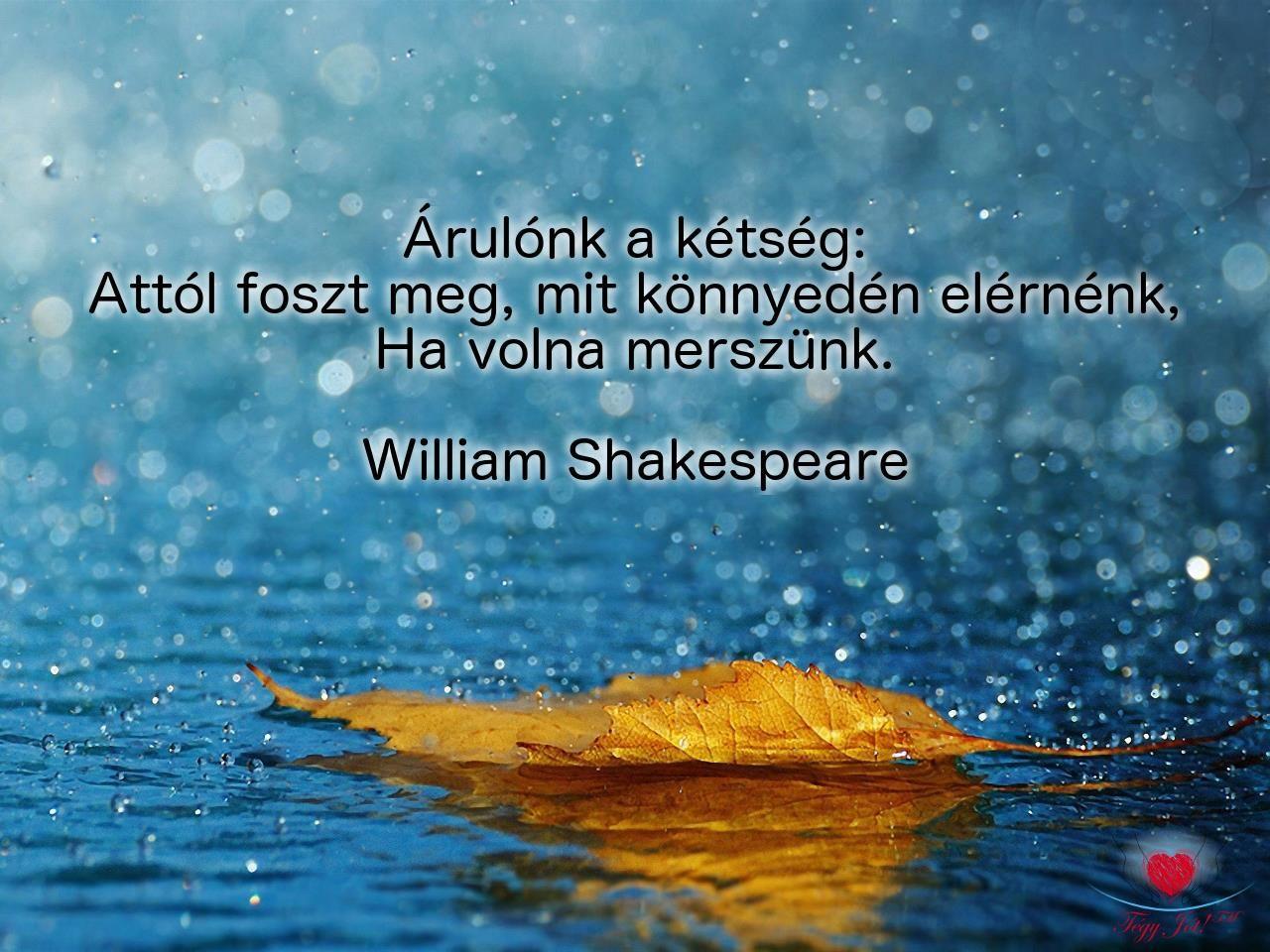 kétség idézetek Pin by Nagyzsu on Idézetek | William shakespeare, Synchronicity