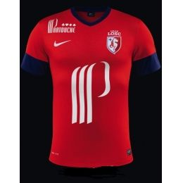 official photos c57ea e5b35 13-14 Lille OSC Home Red Jersey Shirt | 13-14 Club Kits ...