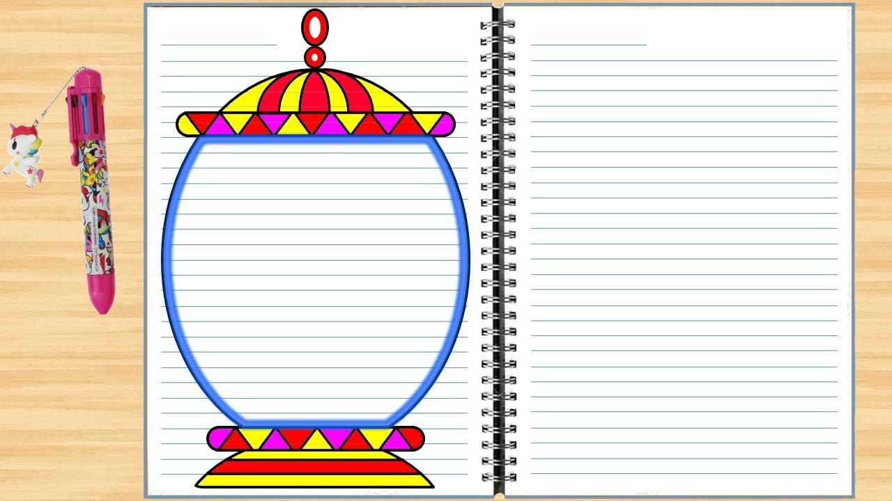 Border Design For Projects On Paper Easy Border Designs Colorful Borders Design Page Borders Design Border Design