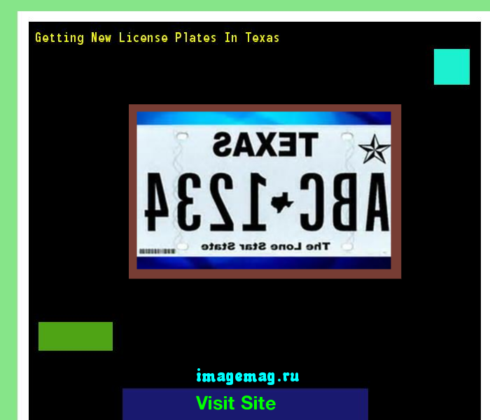 getting new license plates in texas 140954 - the best image search