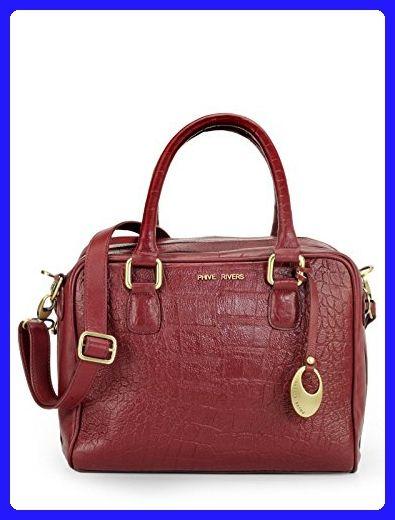 Phive Rivers Women S Leather Handbag Burgundy Pr1080 Top Handle Bags Partner Link