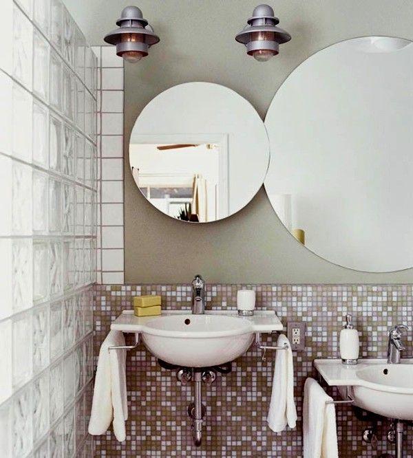 Badezimmer Spiegel Rund , Badezimmer Lampen, Schöne