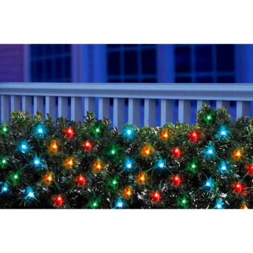 holiday time led net christmas lights multi 150 count fast free shipping freshlook