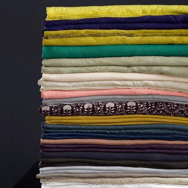 top drap elina en lin lav ampm with housse de couette bmw. Black Bedroom Furniture Sets. Home Design Ideas