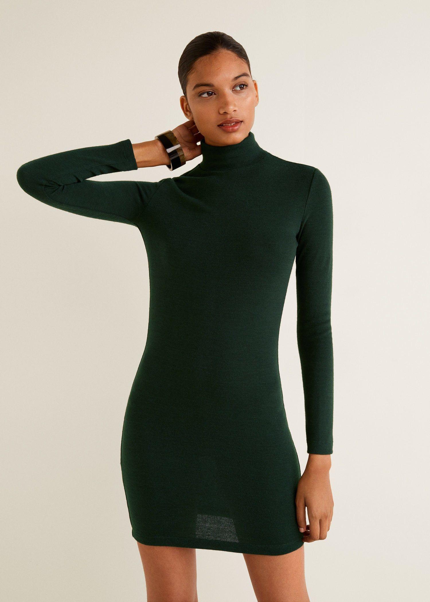3f194bb86100 Vestido punto cuello perkins - Mujer | Otoño-invierno 2018-19 ...