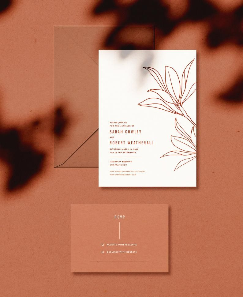 Desert Willow Wedding Invitation
