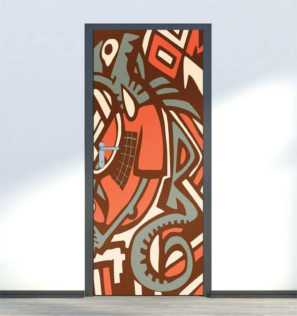 Abstract Door Mural Wall Sticker Art Decal