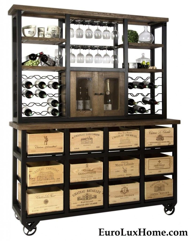 wine box furniture. Hobbs Germany Bordeaux Wine Crate Rack Hutch, Server. Crafted With Genuine Vintage Box Furniture I