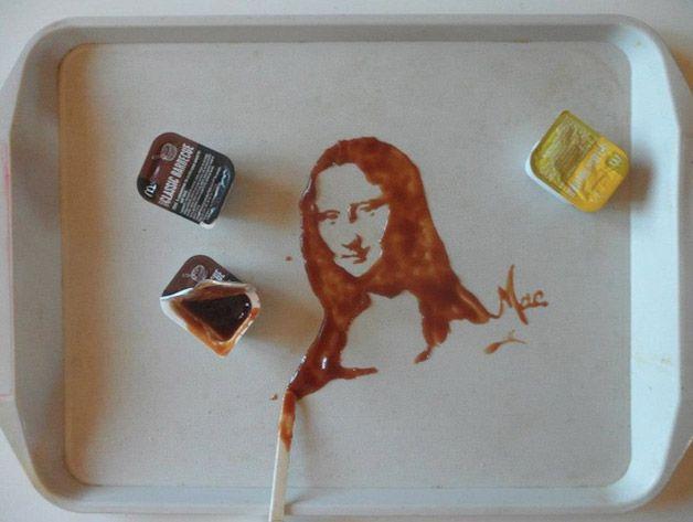 Art Ephemere | Food art | Monalisa