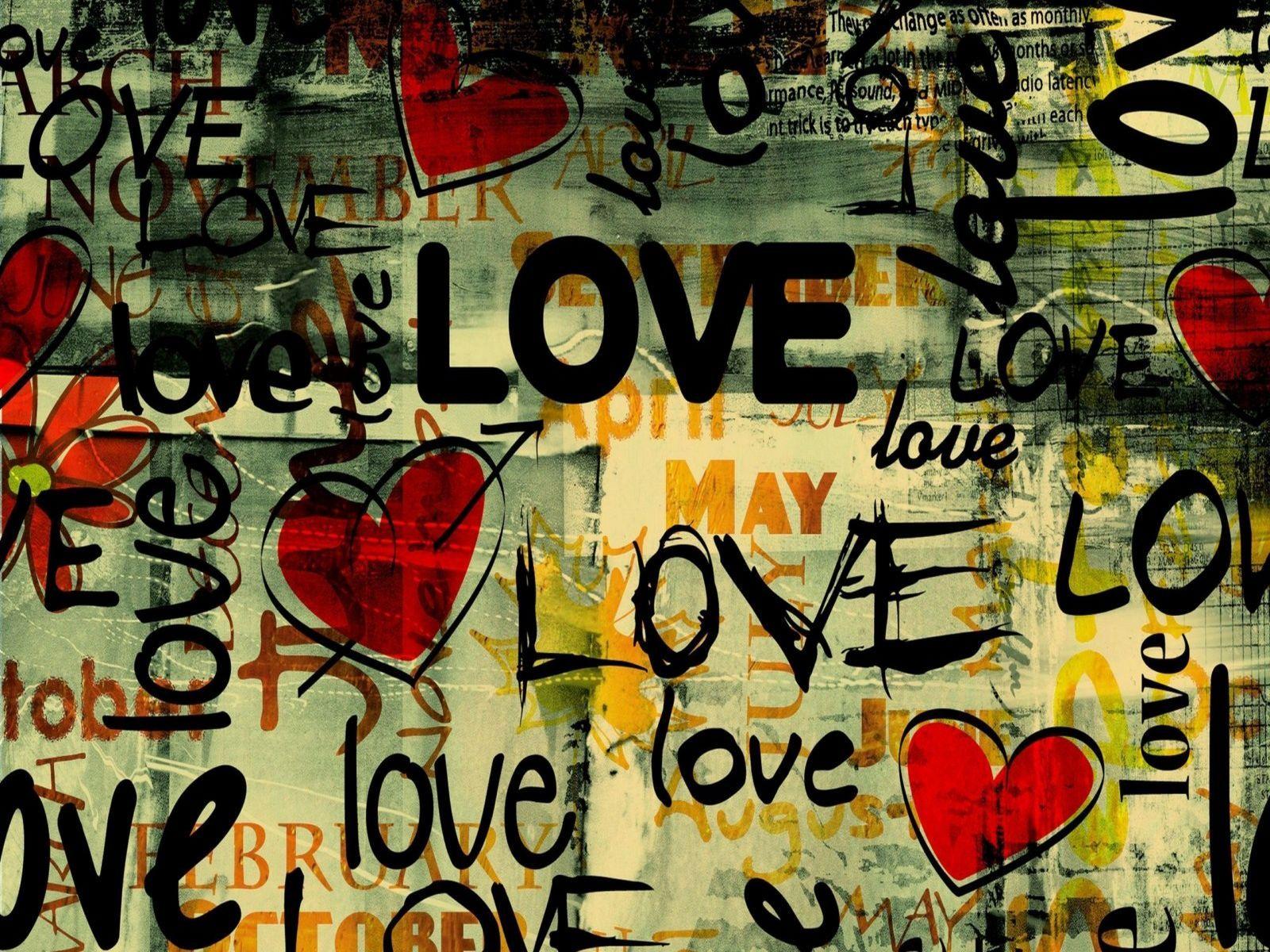 Trendy Love Art Hd Widescreen Desktop Wallpaper Love Graffiti Typography Wallpaper Love Background Images