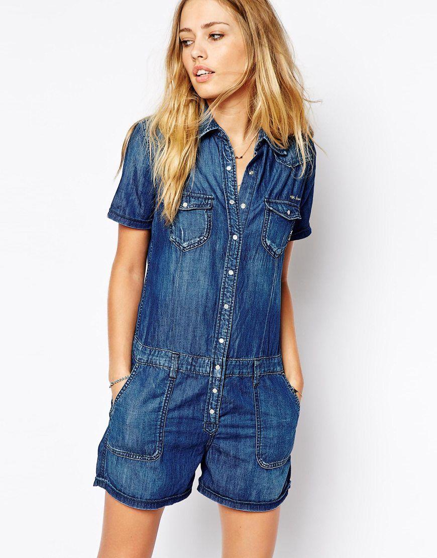 14cebe4790a pepe jeans denim romper