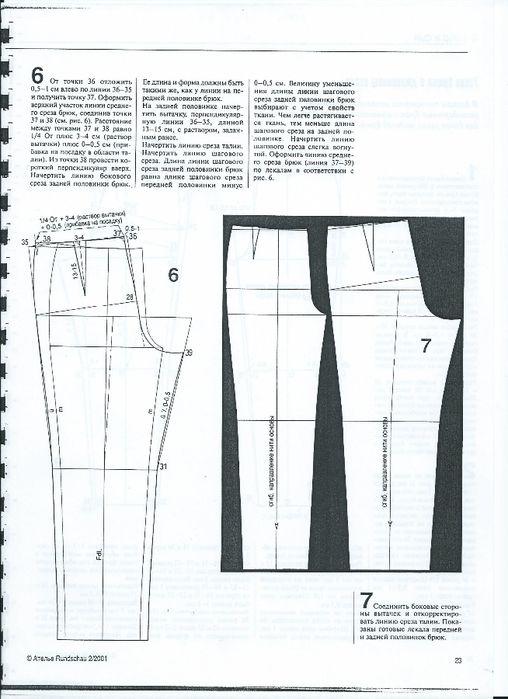 Мюллер построение выкройки брюк