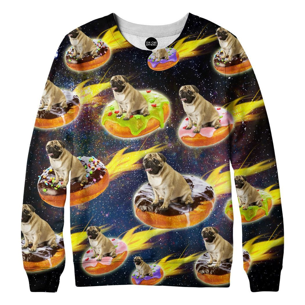 Donut Pug Sweatshirt