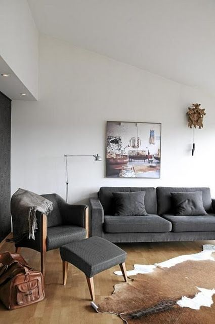 Pin By Victoria On Spaces Modern Grey Living Room Brown Living