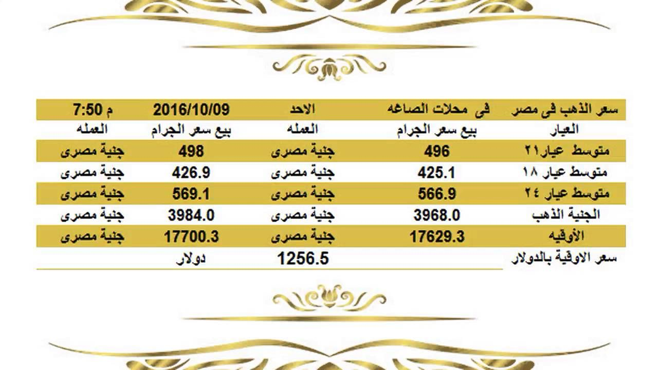 سعر الذهب اليوم ا سعار الذهب اليوم الاحد 9 10 2016 في مصرالساعة 8 مساء Bula Gold Rate Facebook