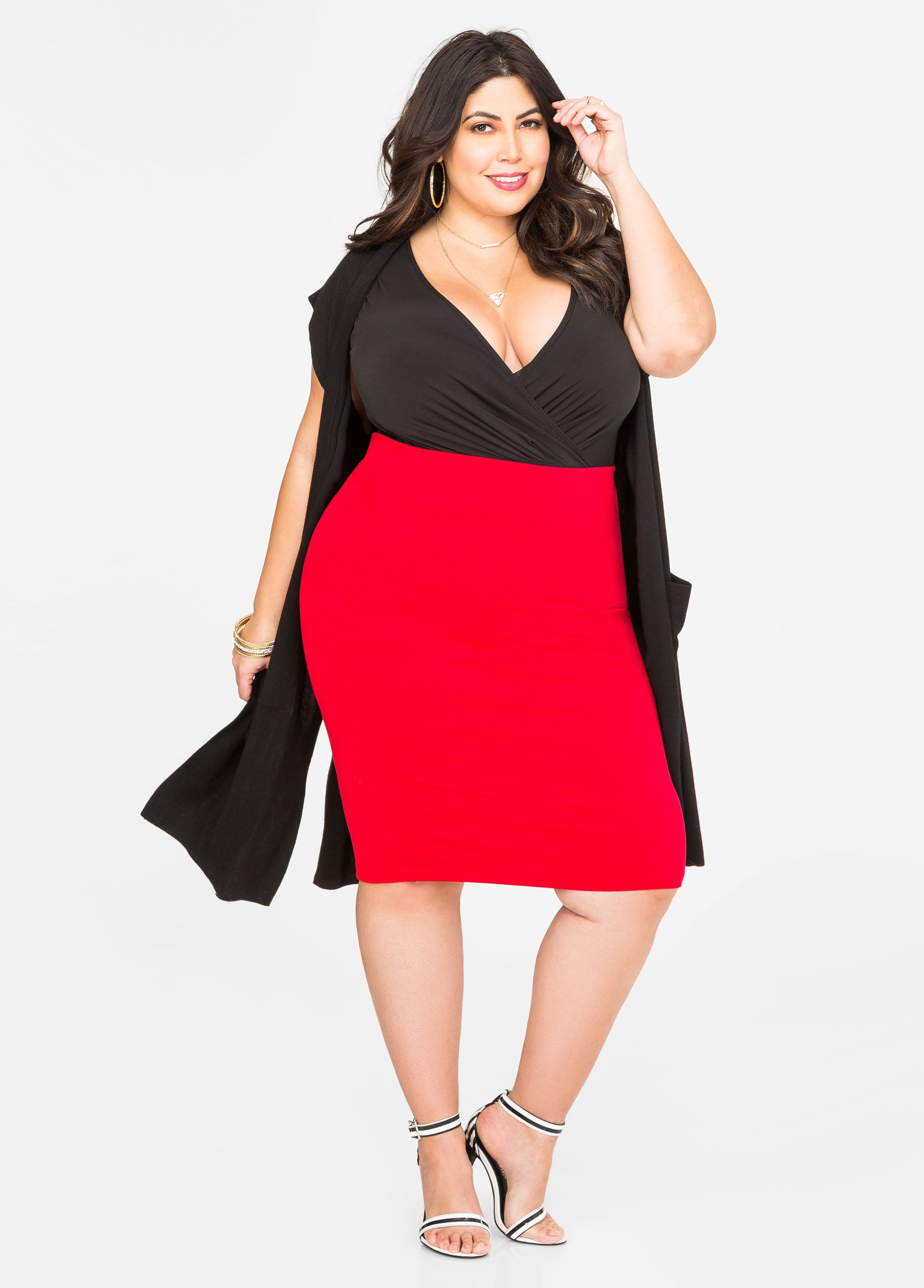 4ff0d0b6d9e Solid Pull-On Pencil Skirt - Ashley Stewart