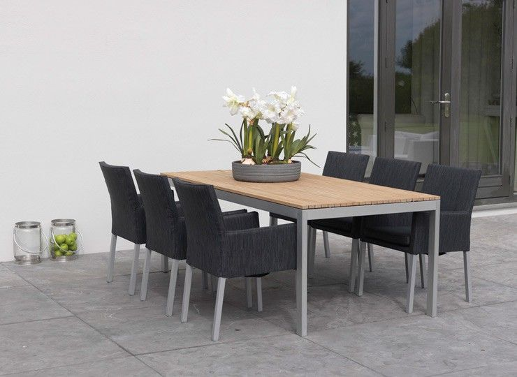 alcor ibiza dining gartenset a gartengruppe 13 tlg hochwertige gartenm bel alu fsc teakholz. Black Bedroom Furniture Sets. Home Design Ideas