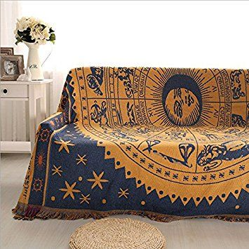 Double Sided Use Sofa Chair Tapestry Couch Throw With