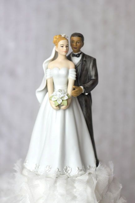Elegant Interracial Wedding Cake Topper Figurine | N & D ~ 1.20.13 ...