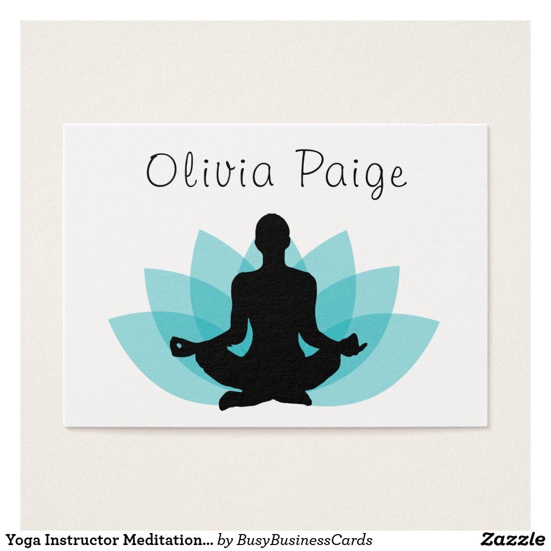 Yoga Instructor Meditation Lotus Flower Feminine Business