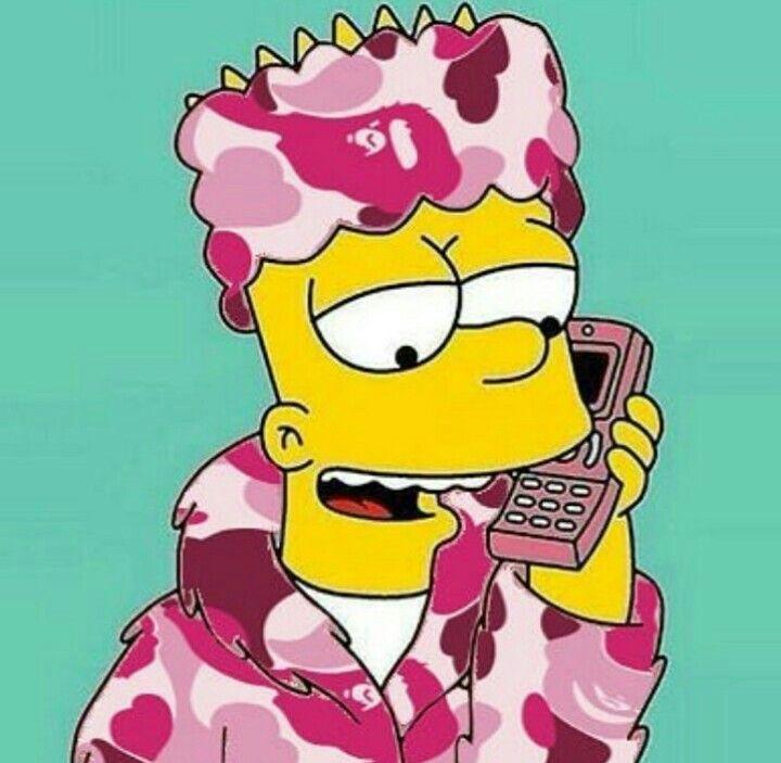 Wallpaper Sad Bart Simpson