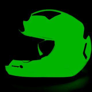 Glow in the dark motorcycle helmet